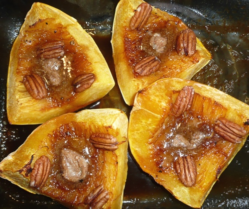 Spaghetti Squash With Apples & Toasted Pecans Recipe — Dishmaps