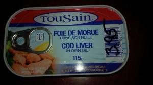 cod livers black boarder